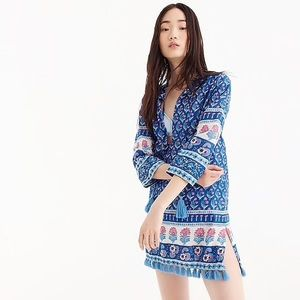 J. Crew Cotton Voile Tunic in Foral Block Print